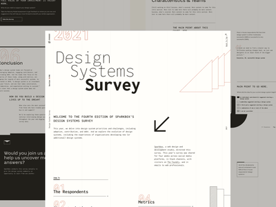 Design System Survey 2021 web design midcentury retro one page survey design systems