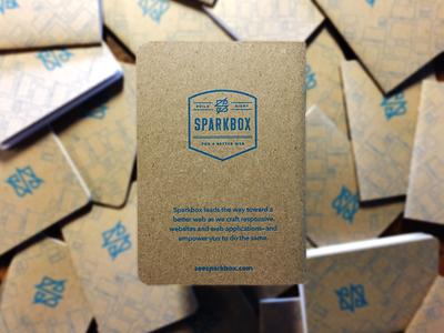 Sparkbox Notebooks screenprint kraft web studio promotional print agency logo notebook