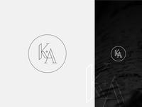 K+A Wedding Logo Concept