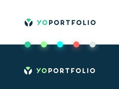 Yo Portfolio - logo financial stocks fun bright pastel colors brand board icon brand logo