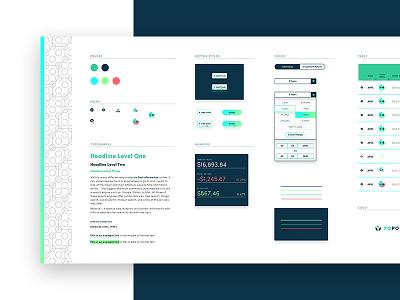 Yo Portfolio - Element Collage mood board stocks financial web design interface element collage ui