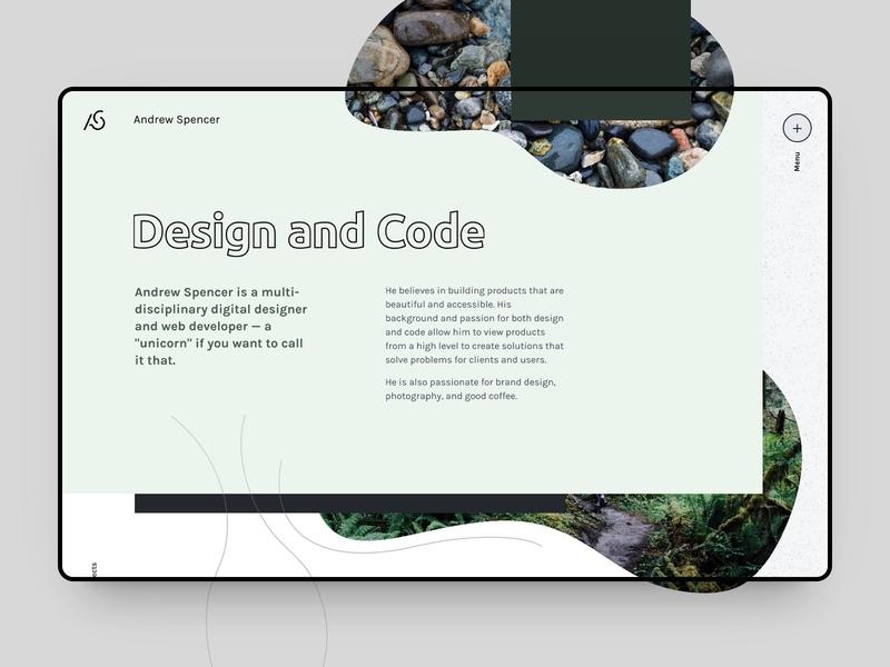Personal Site - New Homepage Design developer designer logo web design portfolio rebrand minimal nature homepage personal personal brand