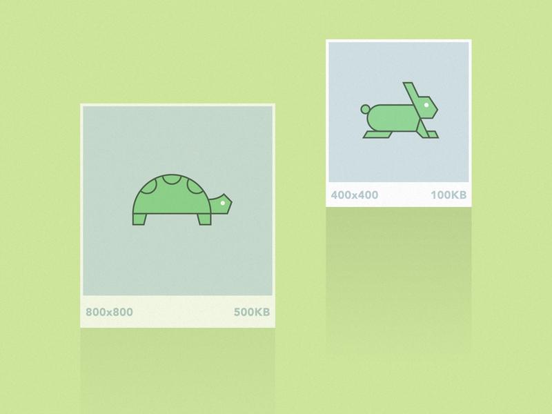 Article Image - Performant Design development flat illustration article web design speed turtle bunny design performance