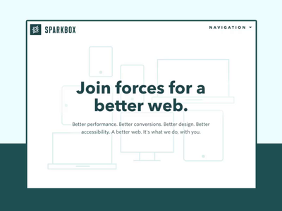 Sparkbox - Homepage Loading Animation fade homepage loading animation interactive website hero animation agency