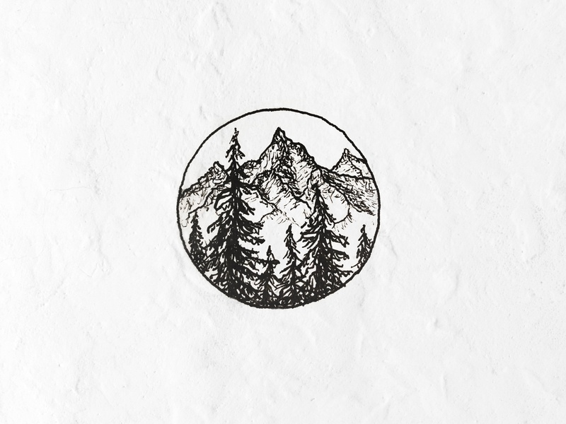 To The Mountains explore ink mountains adventure outdoors nature illustration sketch pen and ink
