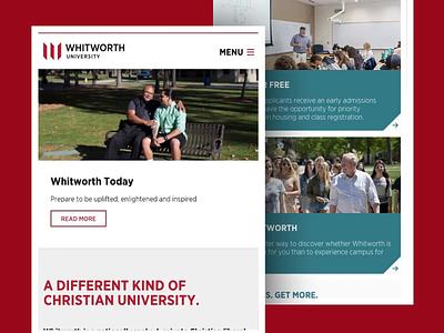 Whitworth University - Mobile Navigation Animation academic university menu slide web design mobile navigation animation