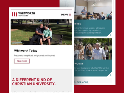 Whitworth University - Mobile Navigation Animation academic university menu slide web design mobile navigation animation