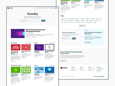 Sparkbox - Foundry Homepage Refresh agency minimal redesign layout blog web design