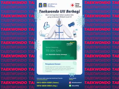 Taekwondo UII - COVID-19 Donation health humanity covid19 donation design taekwondo sport poster design poster martial art invitation