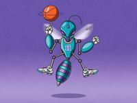 Futuristic Mascot: Hugo (Charlotte Hornets)