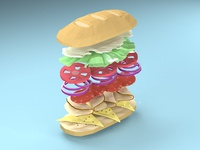 Low Poly Sandwich