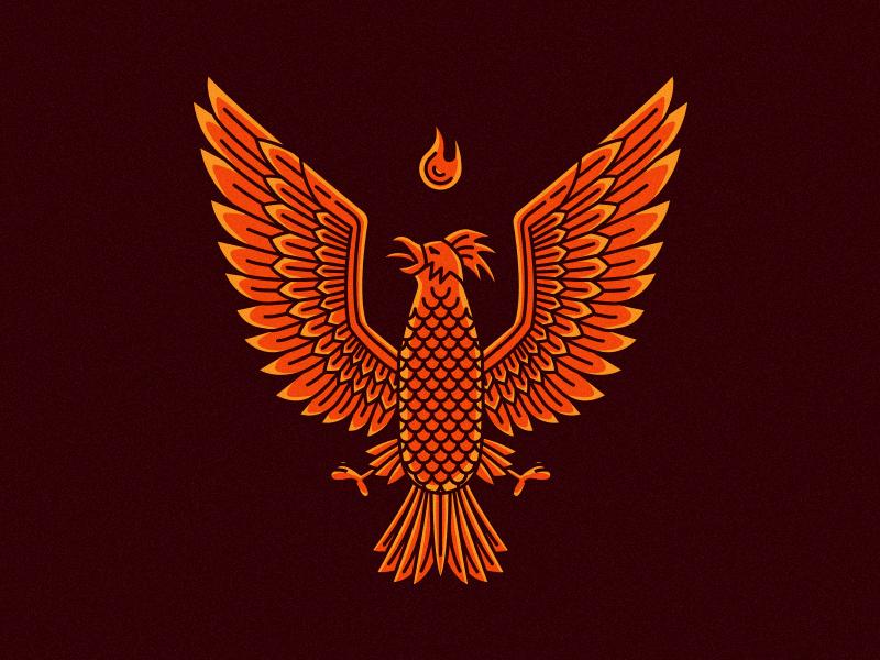 Pardon Me firebird phoenix flame incubus koi orange tattoo