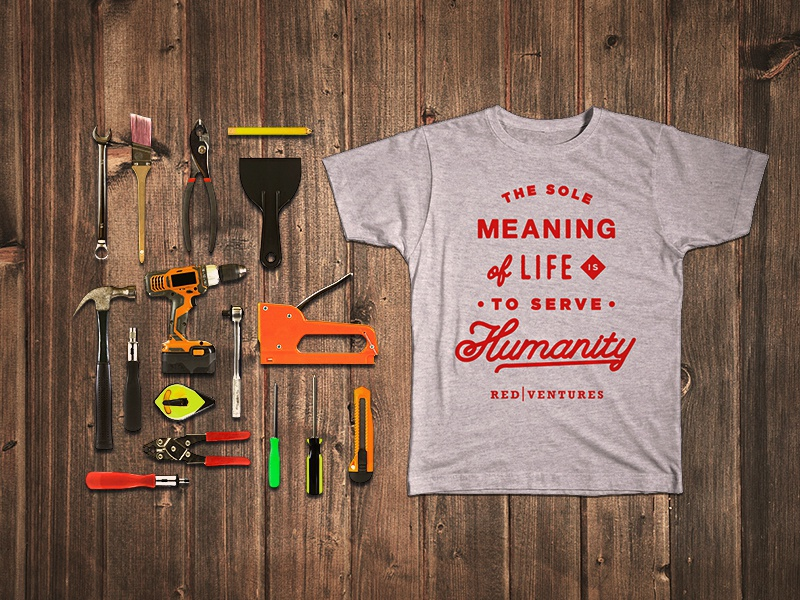 Habitat For Humanity Shirt charity quote script typography construction tools community service habitat for humanity red ventures