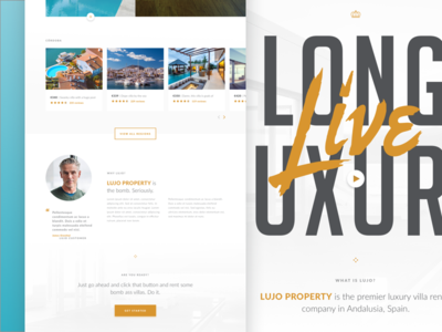 Luxury Property Rental Site