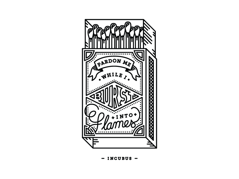 Pardon Me Matchbox illustration music matchbox incubus
