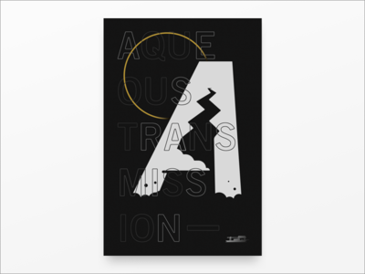 A type illustration aqueous transmission band incubus landscape poster typography