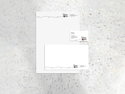 Sewing Time   Rebrand (Part 3) thread stationery illustration serif typography rebrand logo branding freelance first job