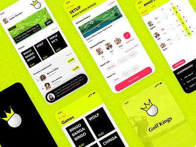 Golfing Gamified Mobile App golf mobile app mobile design ux ui