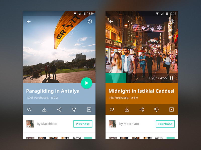 Story of Material style flat interface design app material l andorid