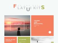 Freebie PSD: Flat UI Kits Red and Green