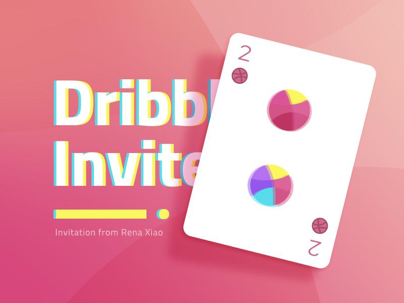 Dribbble Invites x2 ui design shapes app new drible invit invitation x2 invite dribbble