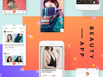 Micro-surgery Beauty App Design line icon mobie doctor beauty surgery ios ui interface gradient design app