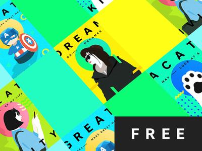 Motto Poster Freebie