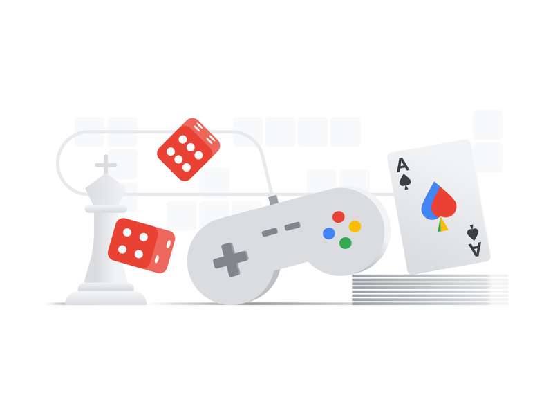 Google Ad Settings illustrations illustration chess dice ace video games