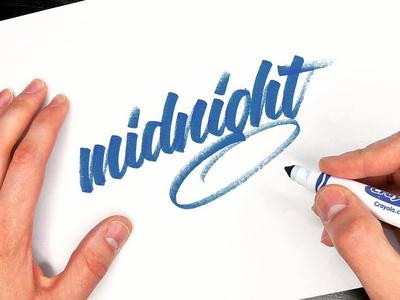 Midnight in marker