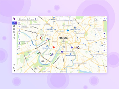 Prism360 Map platform web minimal location map geo product design uxui ui ux product