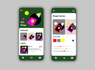 Art Shop/App Design