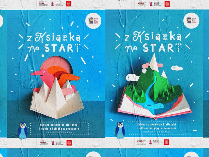 With the book to the start campaign custom illustrator photoshop photography papercutting typography design graphic poster poster art graphic  design graphic art