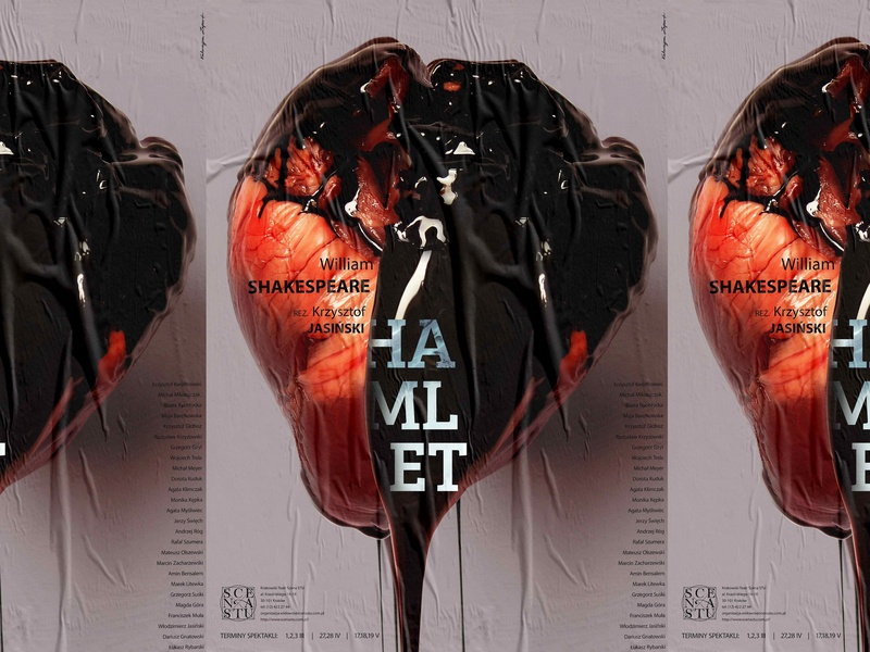 Hamlet - Theatre Poster typography poster poster art graphic graphic art graphic  design