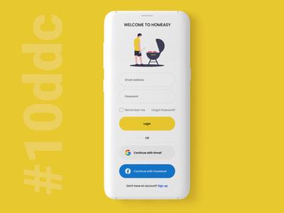 10 Days Design Challenge, Day 2- Welcome Screen Design 10ddc adobe photoshop designinpiration user interface design ui uiux dribble daily ui ui design app design