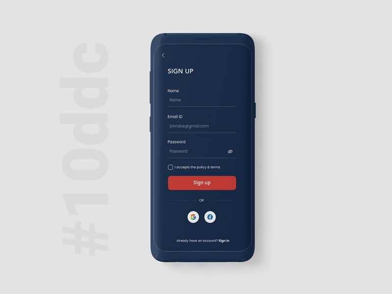 10 Days Design Challenge, Day 3- Sign Up Screen Design adobe photoshop 10ddc user interface design designinpiration ui uiux dribble daily ui ui design app design