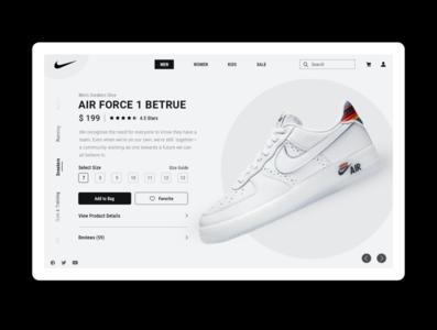 Nike Website Concept adobe photoshop nike shoes nike air nike user interface design designinpiration ui uiux dribble daily ui ui design app design