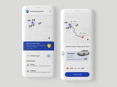 10 Days Design Challenge, Day 7- Car Booking App Design uber car booking app design user interface design adobe photoshop uiux 10ddc designinpiration dribble daily ui ui design app design
