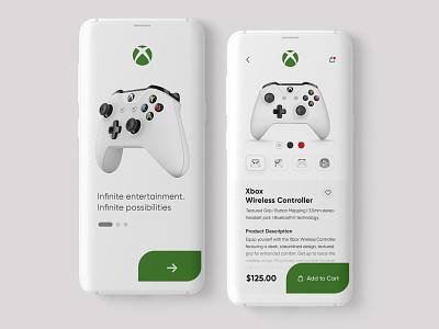 Xbox App Design Concept 10ddc minimalist xboxone xbox adobe photoshop designinpiration uiux dribble daily ui ui design app design