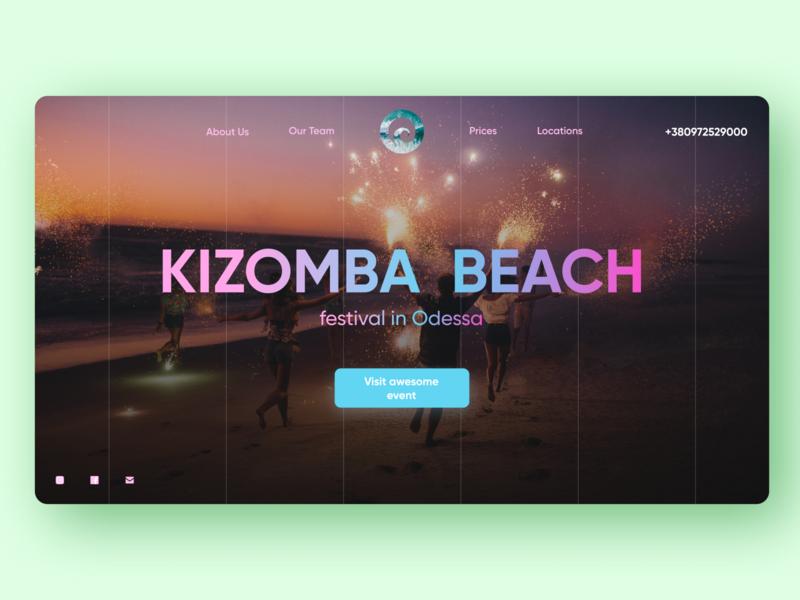Kizomba fest in Odessa city logo typography clean ui ui ux landing page landing web