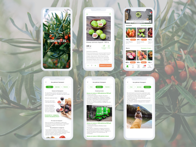ECOMARKET.RU App design #1 application app design mobile app design mobile design mobile app natural eco products app ui mobile