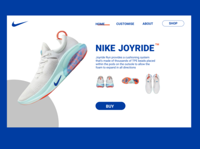 nike shoes landing page
