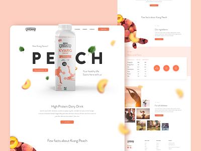 Landing Page - Yogurt Flavour xd clean branding brand design ux ui