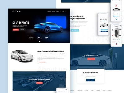 Automobile - Homepage homepage website car automobile brand design ux ui
