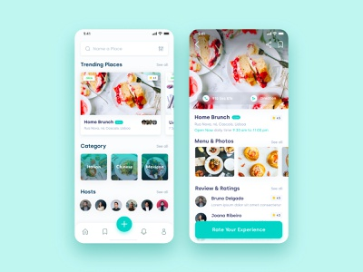 Home Food App food clean design ux ui