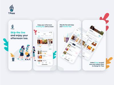 T.Pass App - Appstore Images illustration branding clean brand ux design ui