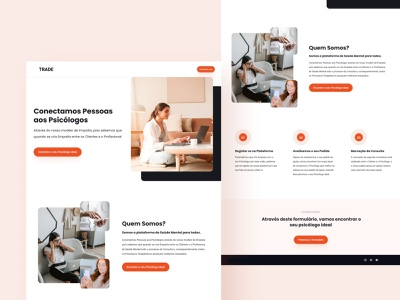 Psicologo Landing Page branding clean brand design ui