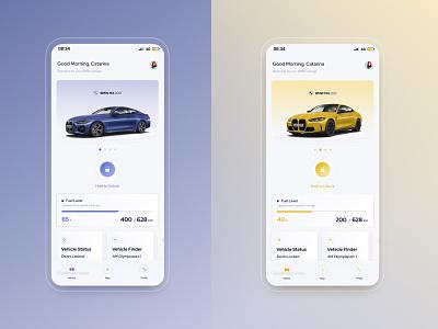 Redesign BMW App app bmw automotive car clean brand design ux ui