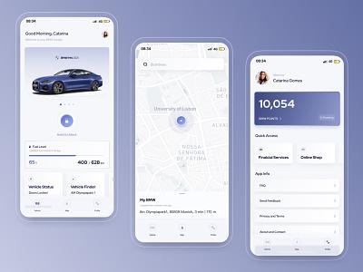 Redesign BMW App bmw app automotive car clean brand design ux ui