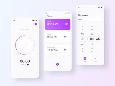 Ui Alarm app ux ui