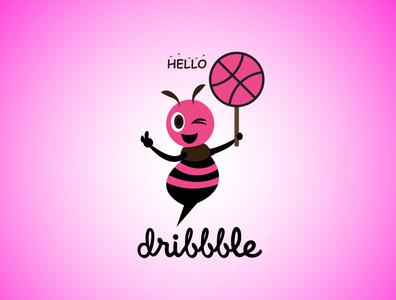 Dribbble Bee